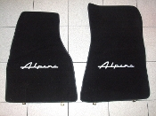 Alpine logo carpet floor mat set